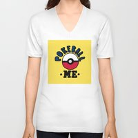 pokeball V-neck T-shirts featuring pokeball me by benjamin chaubard