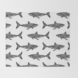 Carcharodon carcharias 2.0 Throw Blanket