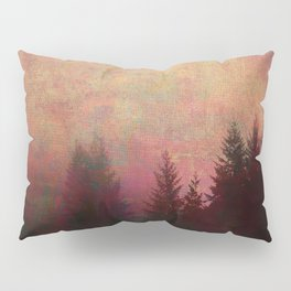 Repose, Abstract Landscape Trees Sky Pillow Sham