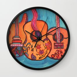 3 Guitars Wall Clock