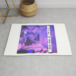 Vaporwave Aesthetic Style Emotional Dream Gift for sad boys and girls Rug