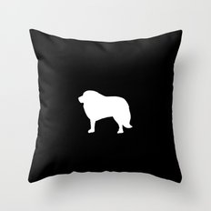 Big White Dog Throw Pillow