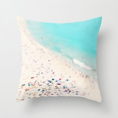 beach love III square Throw Pillow