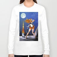 sailor venus Long Sleeve T-shirts featuring Sailor Venus by Nelson Rodrigues