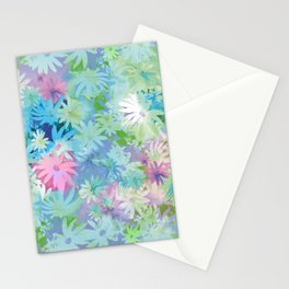 A bed of flowers. Stationery Cards