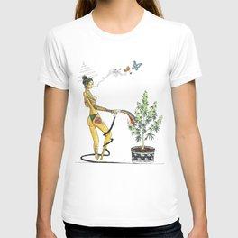 Rainbow Weed Babe - Higher Life T-shirt