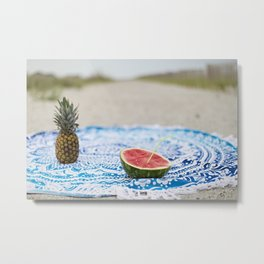 Fruity Beachin Metal Print