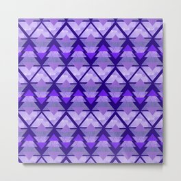 Geometric Forest on Purple Metal Print