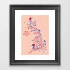 Map of British music  Framed Art Print