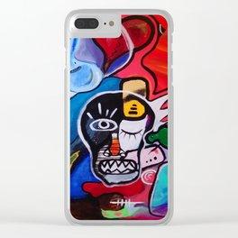 Pzeepaint9 Clear iPhone Case