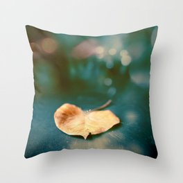 the magic of the leaf Throw Pillow