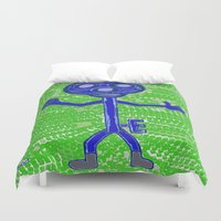 key Duvet Covers featuring Key by Huiskat