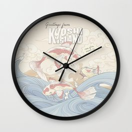 Kyoshi Island Vintage Travel Poster Wall Clock