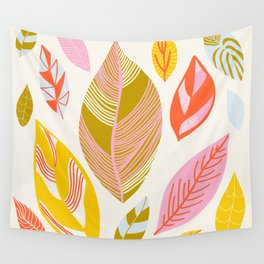 Timberlee, modern autumn leaves Wall Tapestry
