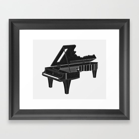 Music Is The Key B Framed Art Print