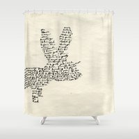 hare Shower Curtains featuring Hare by Amy Veried