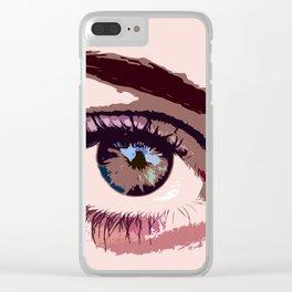 In a women's Eye Clear iPhone Case