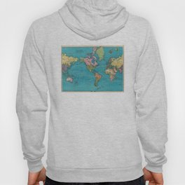 Vintage Map of The World (1897) Hoody