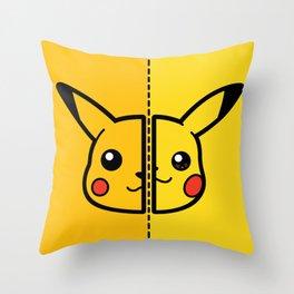 Old & New Pocketmonster Throw Pillow