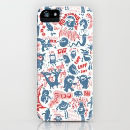 Merry Monsters iPhone Case