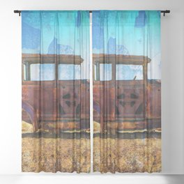 Rusting in Splendour Sheer Curtain
