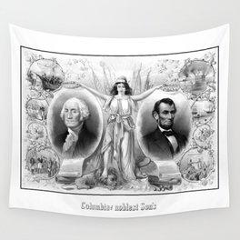 Presidents Washington and Lincoln Wall Tapestry