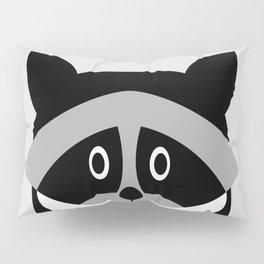 Racoon Bw Pillow Sham