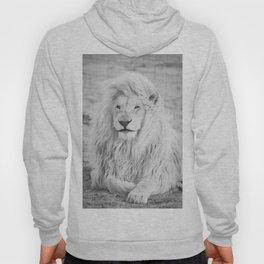 Albino Lion (Black and White) Hoody