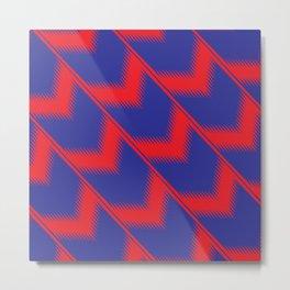 Red and blue diagonal pattern Metal Print