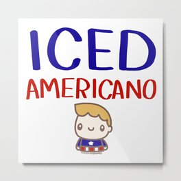 Iced Americano Metal Print