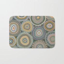 Boho Patchwork-Mineral Colors Bath Mat