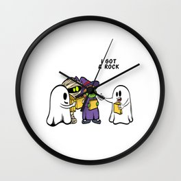 "Happy Halloween Shirt For October November Mummy Witch ""I Got A Rock"" T-shirt Design Creepy Spooky Wall Clock"