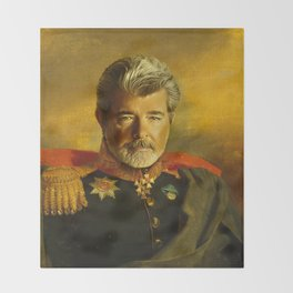 George Lucas - replaceface Throw Blanket