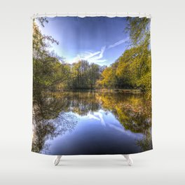 The Silent Pond Shower Curtain