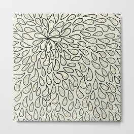 Pearlised Drops - Ivory Metal Print