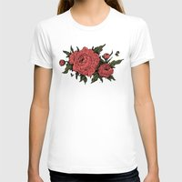 peonies T-shirts featuring Peonies! by Natalie Clapp