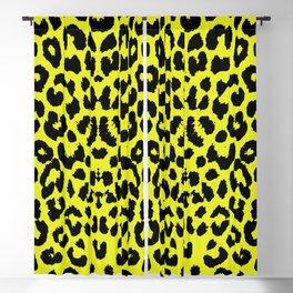 Yellow Leopard Blackout Curtain