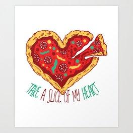 Pizza Heart Art Print