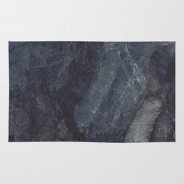 Navy Blue Marble Rug