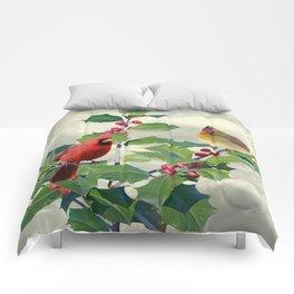 Cardinals on Tree Top Comforters