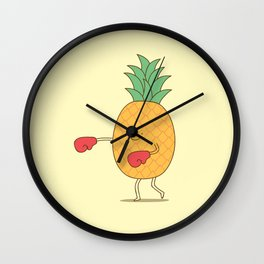 pineapple punch Wall Clock