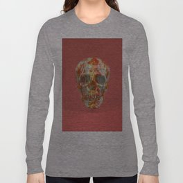 Red Candy Skull Long Sleeve T-shirt