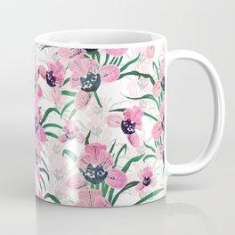 Elegant Pink Orchid flower Hand Paint design Coffee Mug
