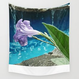 Water on the flower Wall Tapestry