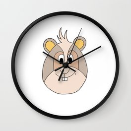 Drawing cartoon of a funny looking guinea pig Wall Clock