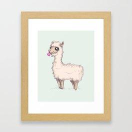 Love Llama Framed Art Print