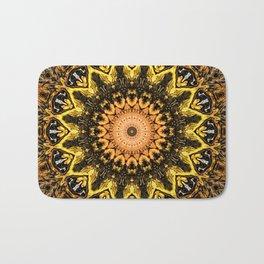Gold Star Bohemian Mandala Design Badematte