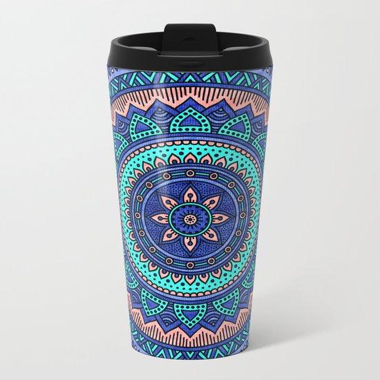Hippie mandala 38 Metal Travel Mug