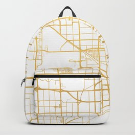 MIAMI FLORIDA CITY STREET MAP ART Backpack