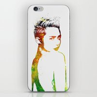 miley cyrus iPhone & iPod Skins featuring Miley Cyrus by Greg21